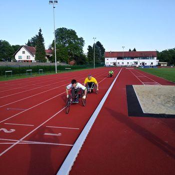 Atletska ekipa Društva paraplegikov Koroške druga v  Mariboru