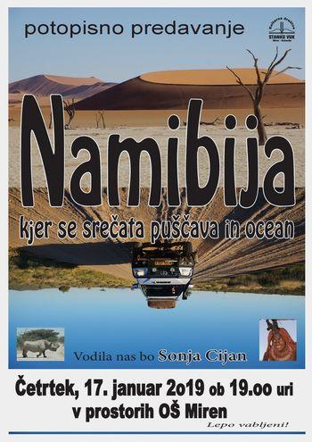 Potopisno predavanje NAMIBIJA