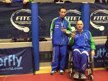 Luka Trtnik 2. na mednarodnem turnirju za invalide v Lignanu