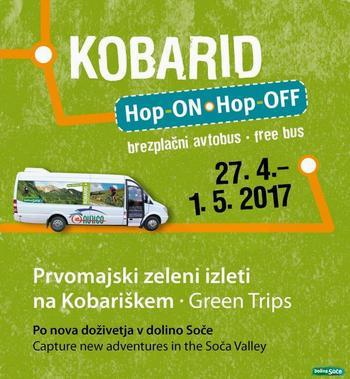 Prvomajski zeleni izleti na Kobariškem z avtobusom Hop ON - Hop OFF KOBARID