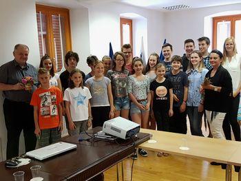 Župan se je udeležil seje šolskega parlamenta