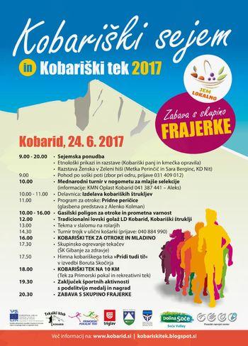 Zapore občinskih cest in javnih površin v času Kobariškega sejma in teka 2017