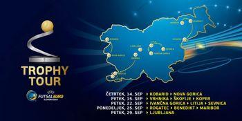 Pokal za zmagovalca UEFA FUTSAL EURO 2018 prihaja v Kobarid