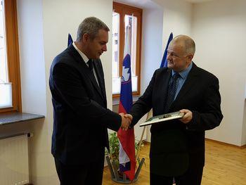Župan sprejel ministra za kmetijstvo, gozdarstvo in prehrano
