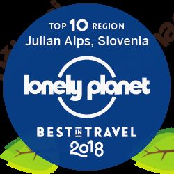 Promocija destinacije in turistične ponudbe z znakom ''Julijske Alpe – Lonely Planet Best in Travel 2018''