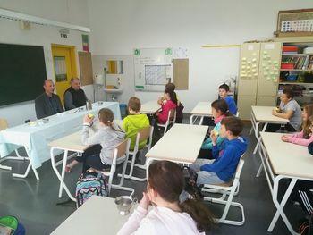 Župan zajtrkoval v družbi petošolcev OŠ Kobarid