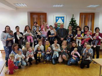 Novoletni sprejem novorojenčkov pri županu