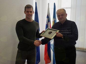 Župan je sprejel letošnjega državnega prvaka v disciplini BMX Race
