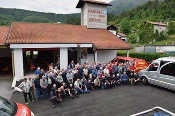 Srečanje gasilskih veteranov bivše GZ Gornje Posočje v Breginju