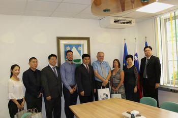 Župan je sprejel delegacijo iz Šanghaja