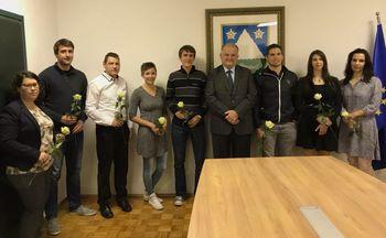 Župan se je srečal z diplomanti iz občine Kobarid