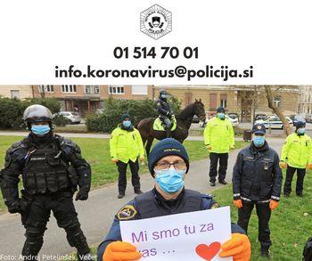 Za nasvet policije v času koronavirusa pokličite na telefonsko številko 01 514 70 01