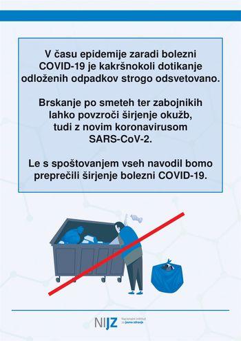 Priporočila za čiščenje in ravnanje z odpadki v domači oskrbi pri ljudeh s COVID-19 (ali sumom na COVID-19)