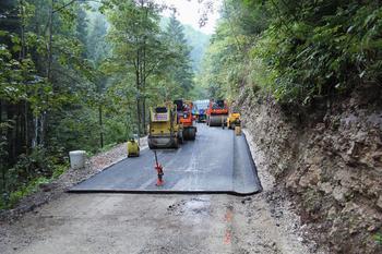 Dokončana investicija na občinskih cestah