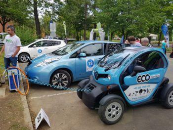 Na preizkušnji e-via 2017 so se električni avtomobili ustavili tudi v Kidričevem