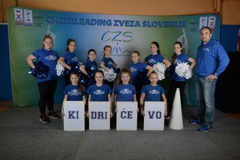 Mini Borci OŠ Kidričevo uspešni na državnem tekmovanju iz cheerleadinga