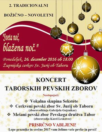 Koncert taborskih pevskih zborov