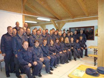 Podelitev priznanj in činov novim gasilcem in strojnikom