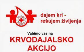 Krvodajalska akcija jutri na Vranskem