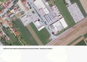 Postavitev nove prometne signalizacije na lokalni cesti št. 490254 Priključek AP Vransko