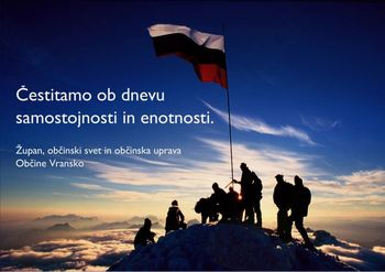 Čestitamo ob dnevu samostojnosti in enotnosti