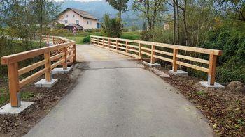 Obnovljen most v Prekopi in sanirana skalna brežina med Petelinkom in Čreto