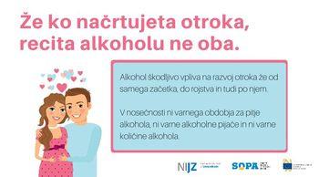 Nosečnost brez alkohola je najvarnejša izbira za vašega otroka!