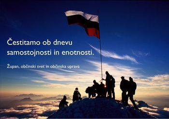 Čestitka ob dnevu samostojnosti in enotnosti