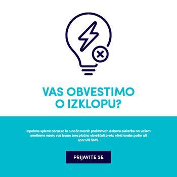 V sredo, 29. septembra, med 10:30 in 11:30 prekinjena dobava električne energije na območju TP Stopnik