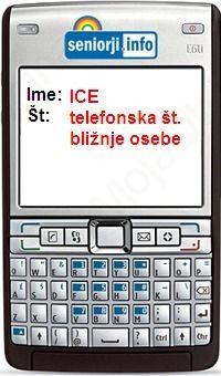 """Klic v sili  """"I C E""""  (In case of Emergencj)"""
