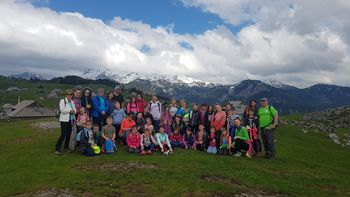 Mladi planinci na veliko planino