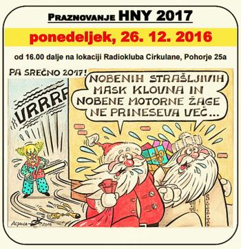 Srečanje HNY 2017 v Radioklubu Cirkulane
