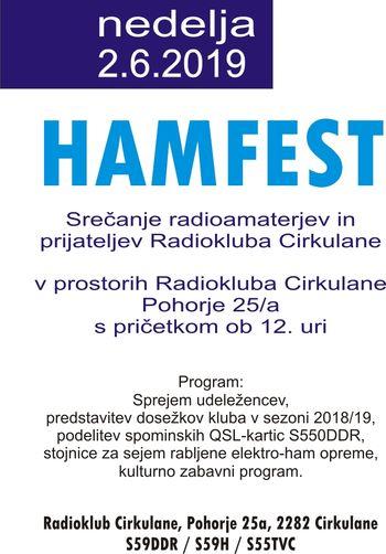 Vabilo na HamFest 2019 - S59DDR - Cirkulane !