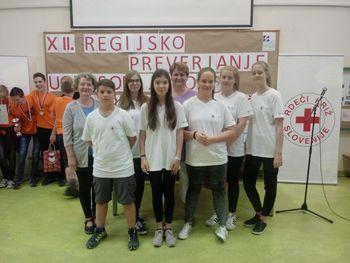 Ekipa prve pomoči OŠ Danila Lokarja se je uvrstila na državno tekmovanje