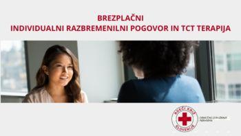Brezplačni individualni razbremenilni pogovori in TCT terapija na Rdečem križu