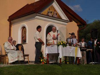 Blagoslov Slomškove kapele pri Gnidec v Brdcah