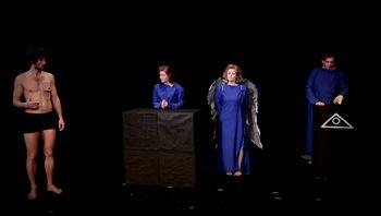 Razstava ob desetletnici delovanja Izrednega teatra društva Tombas