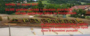 13. avgusta otvoritev novega gasilskega doma PGD Primskovo