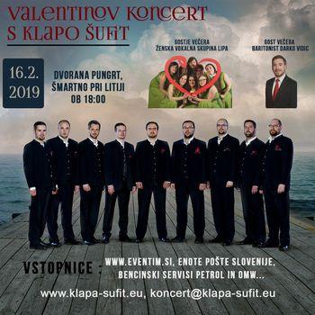 Valentinov koncert s Klapo Šufit in gosti