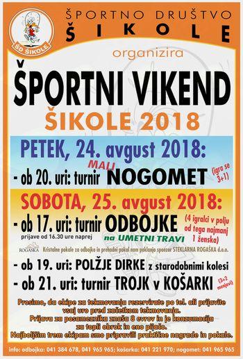 ŠPORTNI VIKEND - ŠD ŠIKOLE 2018