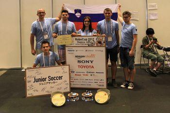 Ptujski dijaki bili najboljši na svetovnem prvenstvu RoboCup Junior Nagoya 2017