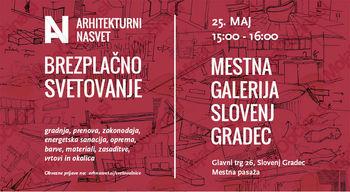 3. teden brezplačnih arhitekturnih svetovanj tudi v Slovenj Gradcu