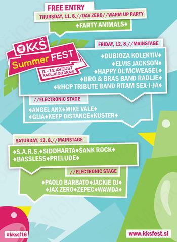 Peti KKŠ Summer FEST na Koroškem gosti odmevna glasbena imena