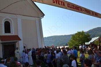 Blagoslov obnovitvenih del na cerkvi sv. Elizabete na Podrebri