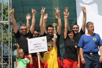 Ekipa prve pomoči Občine Miren-Kostanjevica je osvojila prvo mesto v severnoprimorski regiji