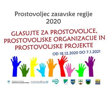 Glasujte tudi vi! Znani so kandidati za nazive javnega natečaja Prostovoljec zasavske regije 2020