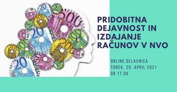Online delavnica: Pridobitna dejavnost in izdajanje računov v NVO