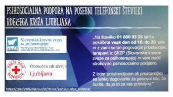 Rdeči križ Slovenije - Psihosocialna podpora
