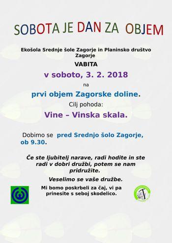 1.objem Zagorske doline, sobota, 3.2.2018