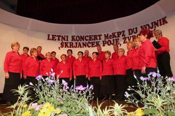 Uspel letni koncert Mešanega komornega pevskega zbora Društva upokojencev Vojnik